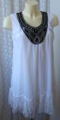 Туника платье белое нарядное летнее Adigia р.50 6195