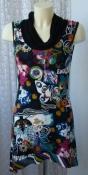 Платье женское летнее модное яркое вискоза стрейч мини Cassis р.42-44 6211