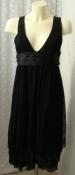 Платье женское черное кружево гипюр хлопок бренд Zara р.46-48 6262