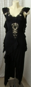 Платье женское нарядное модное черное стрейч Франция р.40-42 6312