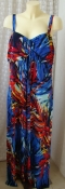Платье женское летнее яркое сарафан вискоза стрейч макси бренд TU р.52 6346