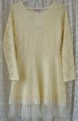 Платье женское нарядное красивое кружевное мини р.42 6370