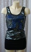 Платье женское туника нарядная модная блестящая мини бренд Angel Eye р.40-42 6381