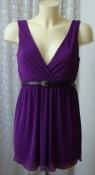 Платье женское летнее нарядное плиссированное мини New Look р.44 6422