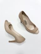 Пудровые туфли от Salvatore Ferragamo (оригинал ), кожаные.