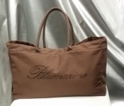 Пляжная сумка Blumarine ( оригинал ), тканевая, цвет - коричневый.