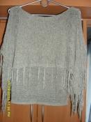Блузка с ажурной накидкой