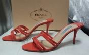 Босоножки Prada ( оригинал ),новые, цвет - нежно / коралловый.