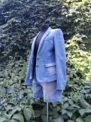 Женский костюм Massimo Dutti,  джинсовый, шорты и пиджак.