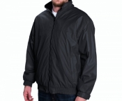 Куртка-бомбер мужская демисезонная North End черная с флисовой подкладкой