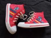 Красные кеды ARIAL на шнурках и молнии в очень хорошем состоянии - 20 см, 30 размер