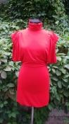 Платье Versace, цвет - красный, полиэстер.