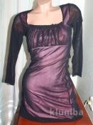 Красивое и нежное чёрно-розовое платьюшко
