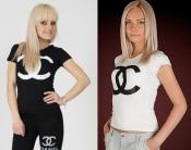 "Футболка ""Бренд D&G, Chanel"" - распродажа модели"