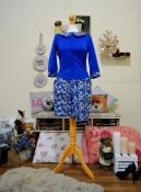 Ультра-Стильные платья с юбкой из сечёного неопрена