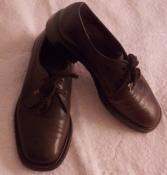 Мужские кожаные коричневые классические туфли - 8 размер, 27 см стелечка