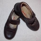 Коричневые итальянские кожаные туфельки Naturino на девочку - 29 размер, 18,5 см