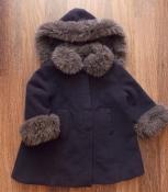 Синее демисезонное пальто Michael de leon на  девочку до 3 лет