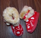 Текстильные сапожки-угги девочке - размер 20, 5 см