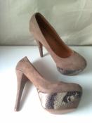 Роскошные бархатные туфли размеры 38, 39, 40 цвет капучино