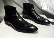 Мужские кожаные ботинки Prada ( оригинал ), новые, цвет - черный.