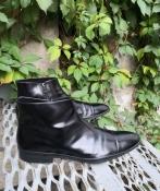 Мужские кожаные ботинки Prada оригинал, цвет - черный.