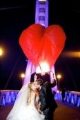 Небесні ліхтарики Серце Велике 1,5м., повітряні ліхтарики Серце Гігант