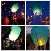 Небесні ліхтарики СЕРЦЕ, КУПОЛ, якісні повітряні ліхтарики, небесные фонарики желаний