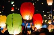 Небесні ліхтарики, повітряні ліхтарики, небесные фонарики