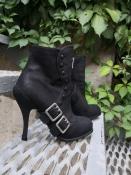 Ботильоны / ботинки Christian Dior, оригинал, кожа/нубук, цвет-черный.