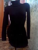Тёплое вязаное платье-туника