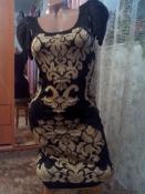 Платье с красивейшим принтом и люрексовой нитью