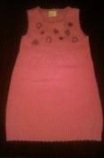 Продам красивый сарафанчик из ангоры нежно-розового цвета Делорас на рост 116