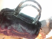 меховая сумочка 23 * 18 см новая, отлично на подарок!