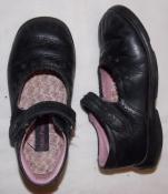 Черные кожаные туфельки Hush Puppies с ортопедической стелькой - 17,5 см