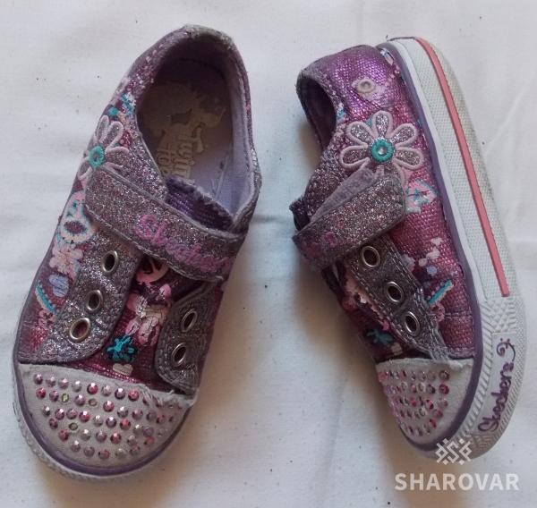 Блестящие кеды-кроссовки Skechers на девочку - 25 размера, 16 см стелька.  Дата объявления  10.11.2018 e03c4d5c720