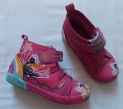 Текстильные зимние  ботиночки на меху для девочки - 19 см стелька