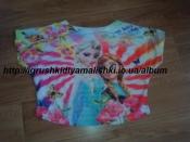 нереальной красоты легкая футболка с Эльзой и Анной ebeke на рост 164