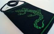 Сумочка ручной работы «Саламандра на черном»