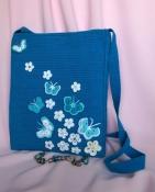 Сумочка ручной работы «Бабочки на голубом»