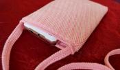 Сумочка ручной работы «Розовая с бисером»