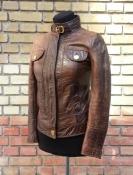 Кожаная куртка Dolce & Gabbana, оригинал, первая линия, цвет- коричневый.