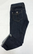 Джинсы Burberry Brit, оригинал, укороченная модель, цвет - темно / синий.