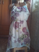 Летнее платье со шлейфом