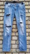 Джинсы Pepe Jeans London, рваные, цвет- голубой.
