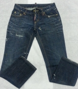 Женские джинсы Dsquared, оригинал, цвет - темно / синий.
