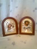Венчальная пара, серебряные иконы Греция.