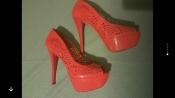 Яркие летние туфли с узором