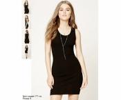 Forever 21 трикотажное приталенное платье черное S