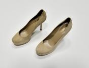 Туфли Yves Saint Laurent, оригинал, абсолютно новые, замшевые, цвет - бежевый.